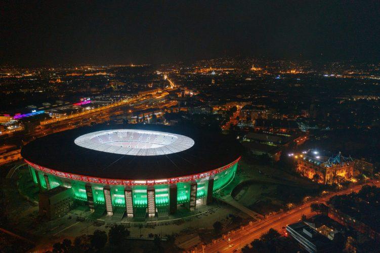 Puskás stadion díszvilágítása
